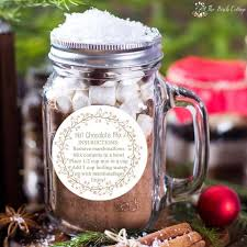 hot chocolate gift ideas hot chocolate mix gift idea with labels