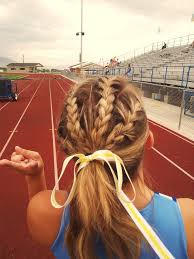 how to style hair for track and field cute track and field hairstyle hair and beauty pinterest