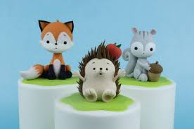 squirrel cake topper hedgehog sugar model tutorial cake masters magazine