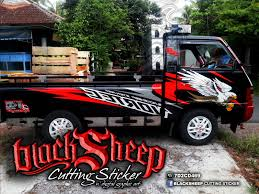 mitsubishi sticker design mitsubishi l300 cutting sticker blacksheep sticker