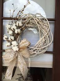 front door wreath ideas best 25 cotton wreath ideas on pinterest cotton decor letter