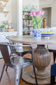 farmhouse table with metal chairs breakfast nook update with round farmhouse table the home i create