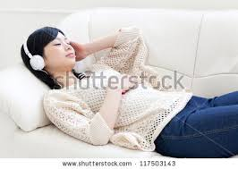 Sleeping On The Sofa Sleep Headphones Stock Images Royalty Free Images U0026 Vectors
