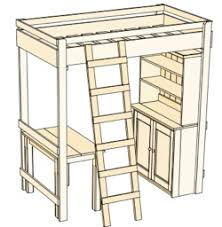 Build A Desk Plans Free by Ana White Build A Loft Bed Unique Free Loft Bed With Desk Plans
