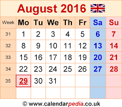 printable monthly calendars august 2015 calendar august 2016 uk bank holidays excel pdf word templates