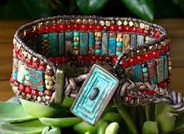 beaded leather cuff bracelet images 632 best leather pearl jewelry images arm candies jpg