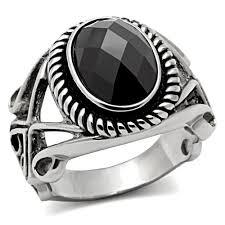 aliexpress buy mens rings black precious stones real aliexpress buy high polishing stainless steel semi
