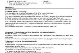 Singer Resume Example by Zhee Singer Resume Singer Resume Reentrycorps