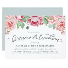 bridesmaid brunch invitations bridesmaids luncheon invitations announcements zazzle