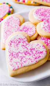 heart shaped cookies soft cut out sugar cookies sallys baking addiction