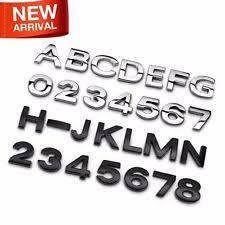 chrome letters parts u0026 accessories ebay
