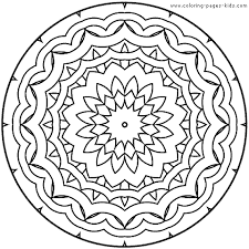 Mandala Color Page Coloring Pages For Kids Miscellaneous Pictures To Color