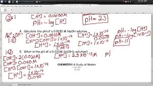 Ph Worksheet Ph Calculations Worksheet Episode 1102 Page 11 10 And Page 11