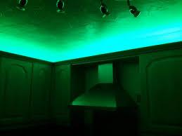 kitchen decoration using led green kitchen strip lighting