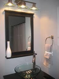 bathroom decor ideas diy diy small powder room with clear glass bowl sink on black marble