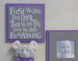 purple gray nursery etsy