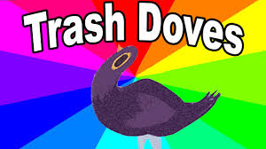 Meme Stickers For Facebook - what is the trash dove the history and origin of the facebook bird