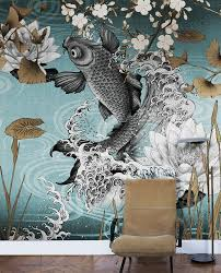 London Wall Murals Wallpaper Model Koi Designed By Francesca Besso For Collection 17