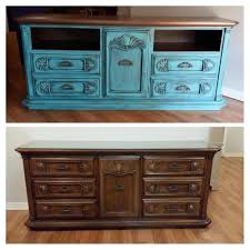 dresser and tv stand combo refurbished dresser turned into tv console annie sloan chalk