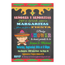 chalkboard mexican baby shower invitations zazzle