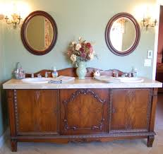 Antique Vanity With Mirror 55 Inch Double Sink Vanity Bathroom Mediterranean With Antique