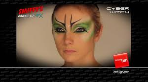 cyber witch face painting halloween make up tutorial youtube