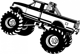 orange clipart monster truck pencil and in color orange clipart
