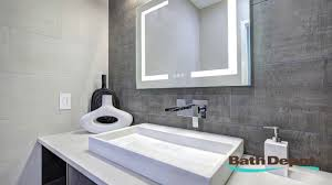 Bathroom Mirror With Clock Bath Depot Bathroom Mirror With Integrated Light And Digital