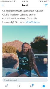 leblanc caroline sac distance specialist madison leblanc commits to swim at columbia