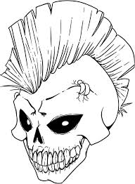free printable skull coloring pages kids