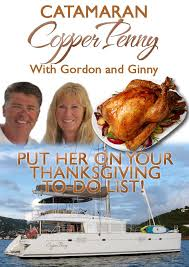 crewed catamaran charter thanksgiving or