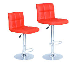 furniture armless modern swivel bar stools with red leather seat