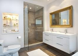 framed mirrors for bathroom vanities elegant gold framed mirror and white long contemporary floating