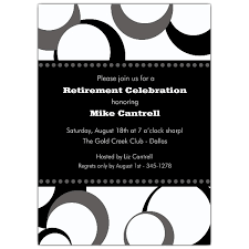 retirement invitations black and white funky dots retirement invitations paperstyle
