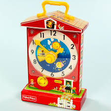 fisher price 1968 music box clock toy nostalgic vintage toys zoom