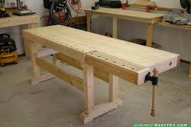 Woodworking Bench Top Plans by Wood Choice For Workbench Top
