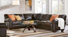 shop for a cindy crawford home lincoln square 3 pc sectional at
