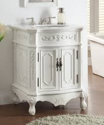 Inch White Finish Antique Bathroom Vanity - Solid wood 32 inch bathroom vanity