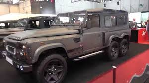 land rover truck 2015 4k huntsman land rover 6x6 geneva 2015 youtube