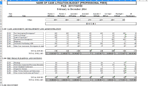 the lawyer u0027s tool box litigation task based budget excel