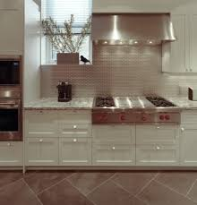 metal kitchen backsplash cool kitchen metal backsplash home