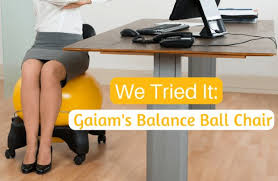we tried it gaiam u0027s balance ball chair sparkpeople