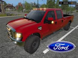 Ford F350 Service Truck - ford f350 flat deck 09 08 17 for ls 2017 farming simulator 2017