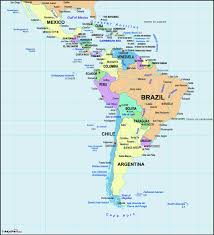 Map America by Latin America Wall Map Maps Com