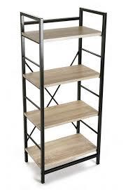 etagere metal etagere metal noir bois 4 niveaux versa 20880011 kdesign