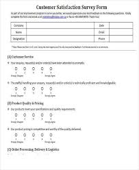 printable survey printable survey template 10 free word pdf