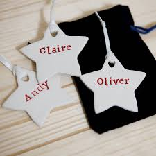 personalised christmas tree decorations by foxery