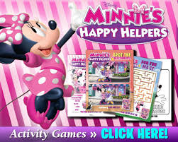 free printable activities featuring minnie s happy helpers