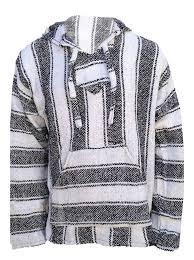 baja hoodie surfer mexican poncho free shipping white graphite