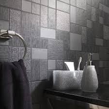 Glitter Bathroom Flooring - black glitter tile wallpaper kitchen and bathroom tiling on a roll
